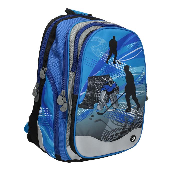 Plecak szkolny dla chłopców bagmaster, niebieski, 969-9608 - 13