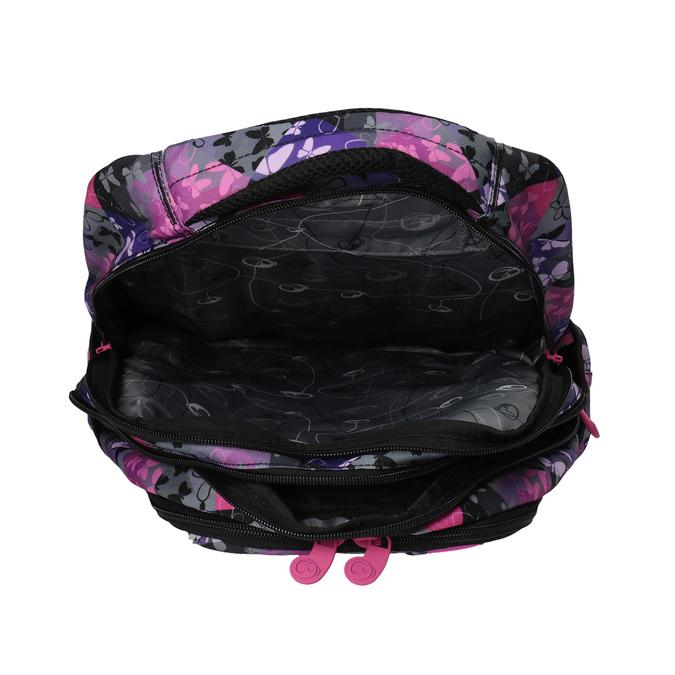 Plecak szkolny w motyle bagmaster, różowy, fioletowy, 969-5607 - 17