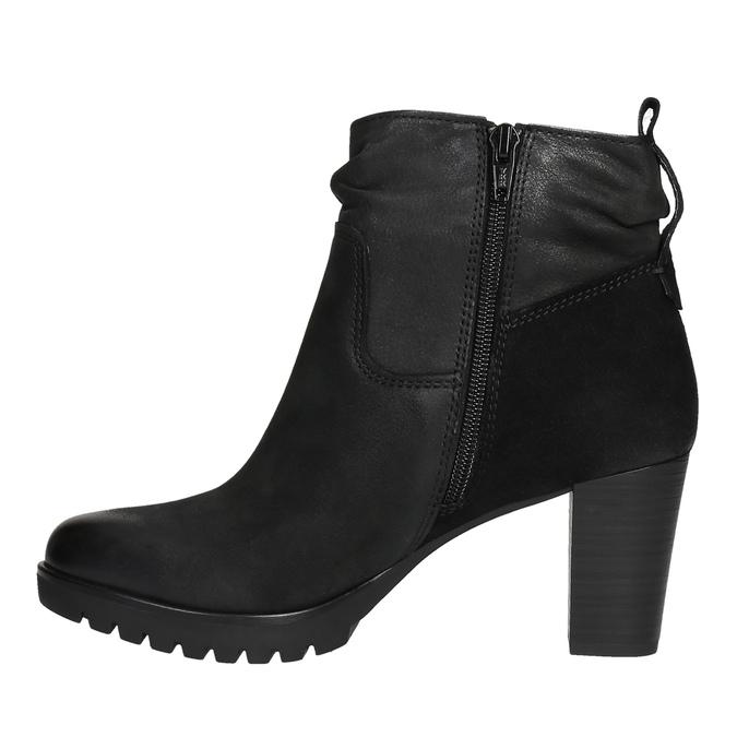 Botki damskie bata, czarny, 796-6600 - 26