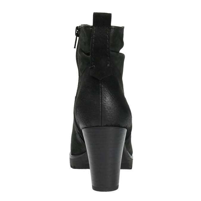 Botki damskie bata, czarny, 796-6600 - 17