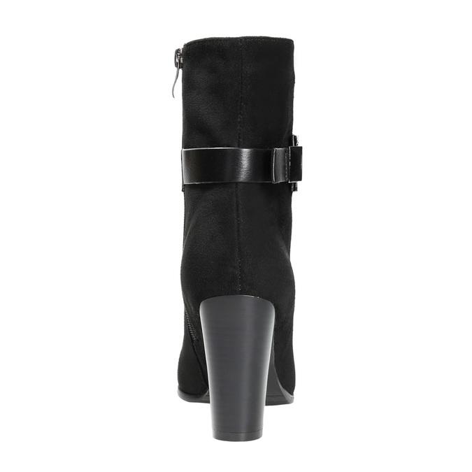 Botki damskie zklamrami bata, czarny, 699-6630 - 17