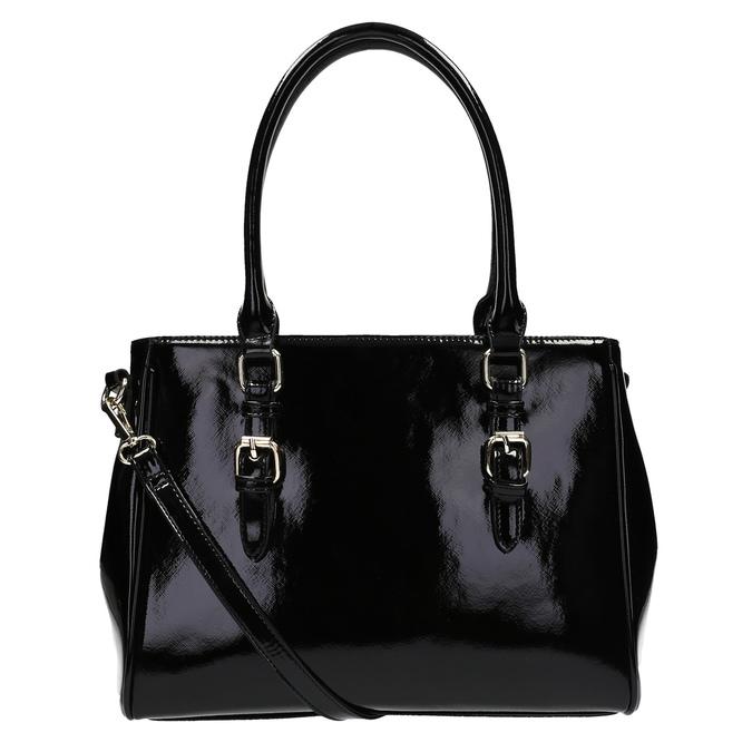 Czarna lakierowana torebka bata, czarny, 961-6619 - 26