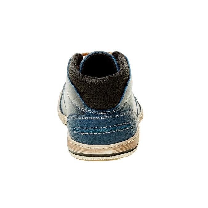 Niebieskie skórzane buty do kostki bata, niebieski, 844-9620 - 17
