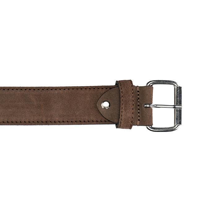 Zamszowy pasek bata, brązowy, 953-3106 - 26