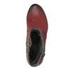 Damskie ocieplane botki bata, czerwony, 696-5617 - 19