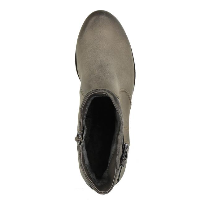 Damskie botki bata, szary, 696-2617 - 19