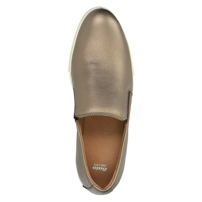 Skórzane buty Slip-on na szerokiej podeszwie bata, brązowy, 526-4605 - 19