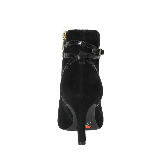 Damskie botki na szpilce rockport, czarny, 713-6101 - 17