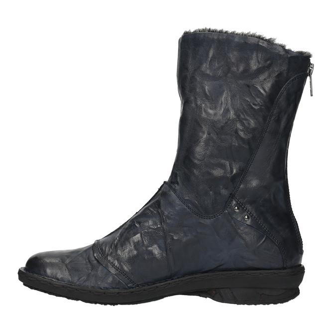 Damskie ocieplane buty bata, niebieski, 596-9624 - 19