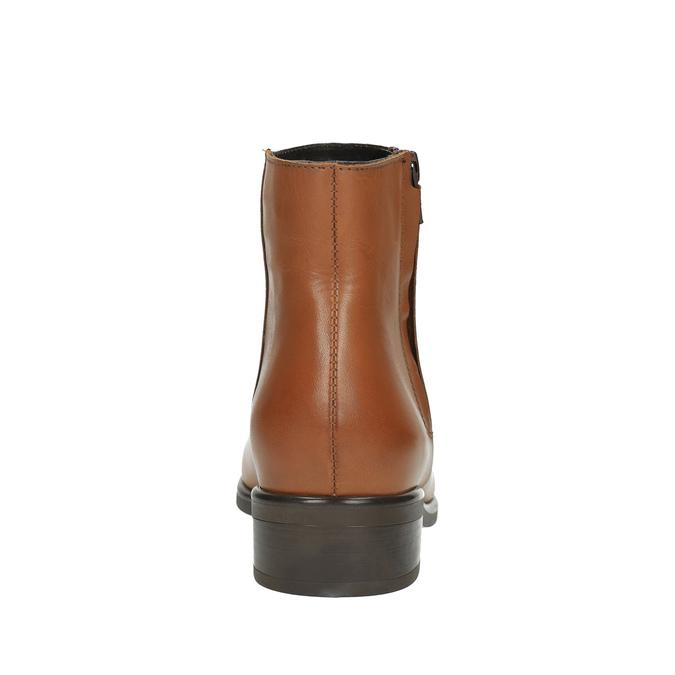 Skórzane botki z suwakami bata, brązowy, 594-3518 - 17