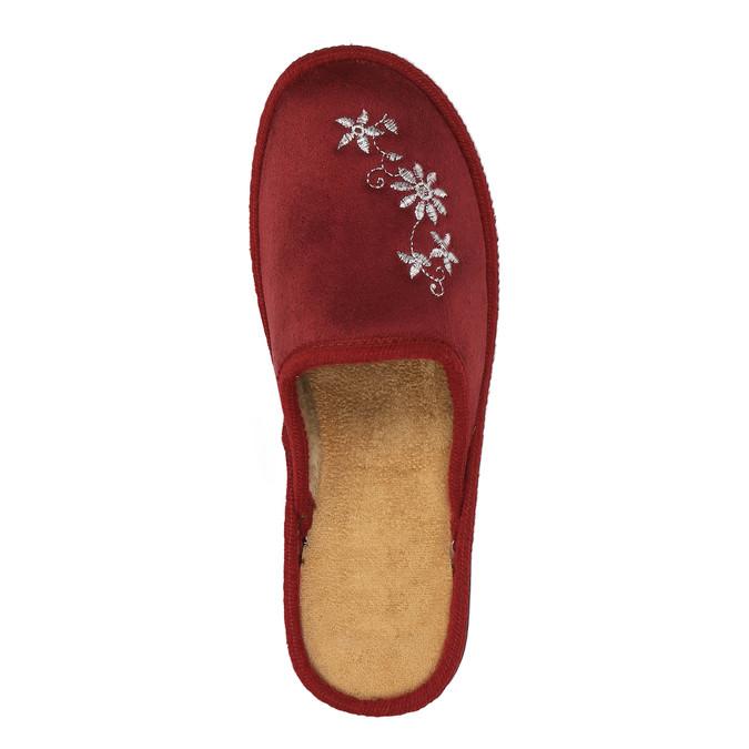 Kapcie damskie bata, czerwony, 579-5348 - 19