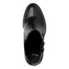 Botki na obcasie ze sprzączką bata, czarny, 791-6610 - 19