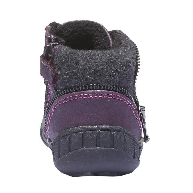 Buty dziecięce mini-b, fioletowy, 121-9101 - 17