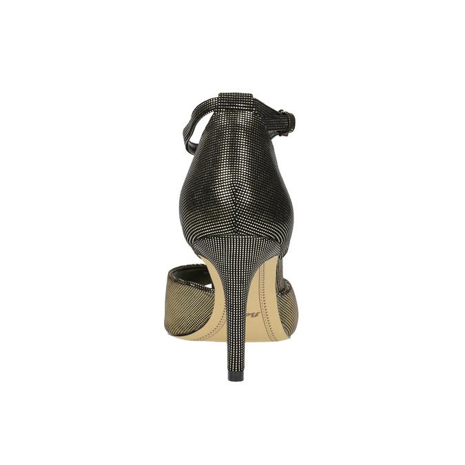Sandały na szpilce, z metalicznymi refleksami bata, czarny, 729-8630 - 17