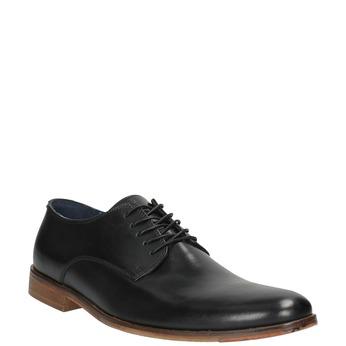 Skórzane męskie półbuty bata, czarny, 826-6643 - 13