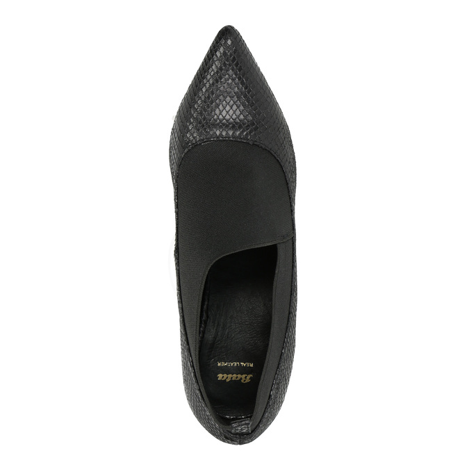 Czółenka z elastycznym oblamowaniem bata, czarny, 721-6600 - 19