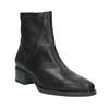 Skórzane botki ze wzorem bata, czarny, 596-6621 - 13
