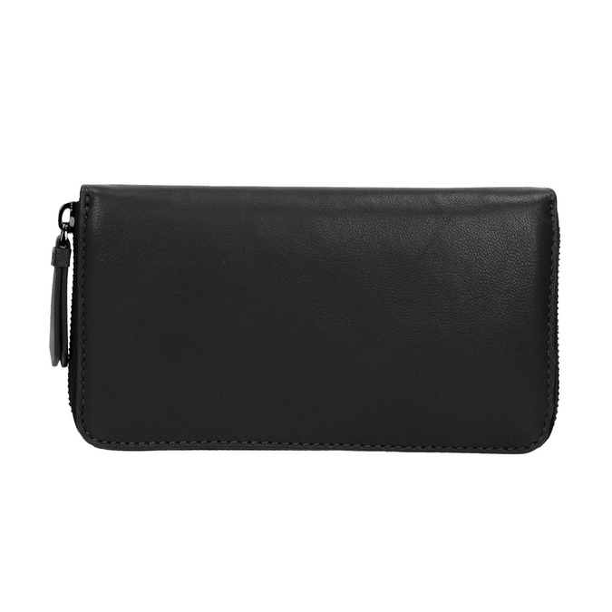 Damski skórzany portfel w czarnym kolorze bata, czarny, 944-6165 - 26