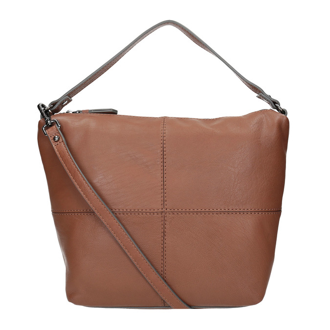 Skórzana torebka Hobo bata, brązowy, 964-4233 - 19