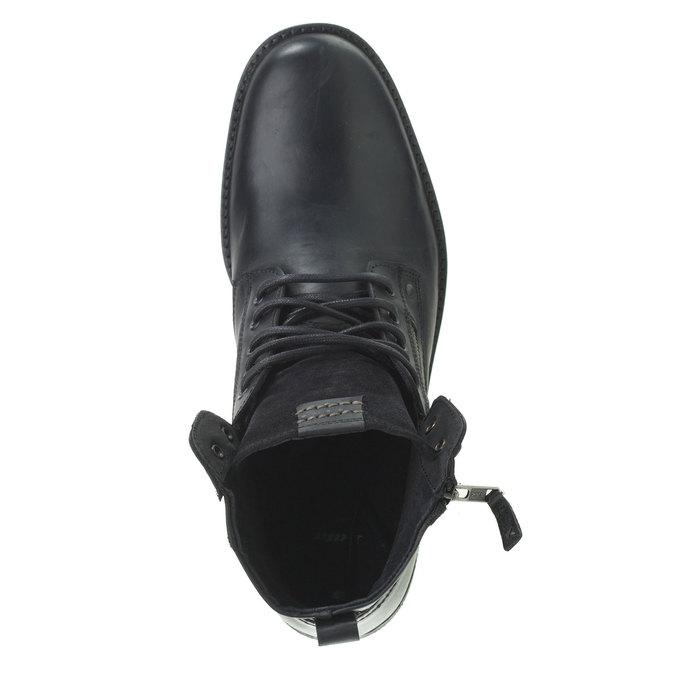 Skórzane botki bata, czarny, 894-6449 - 19