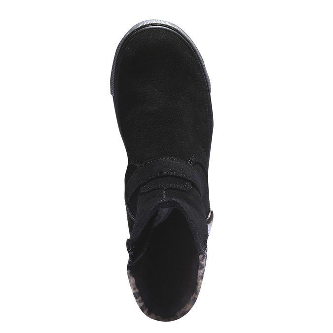 Dziewczęce buty do kostki richter, czarny, 393-6003 - 19