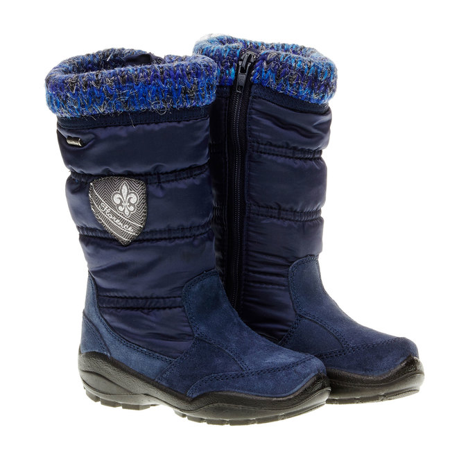 Dziewczęce buty zimowe mini-b, niebieski, 299-9151 - 26