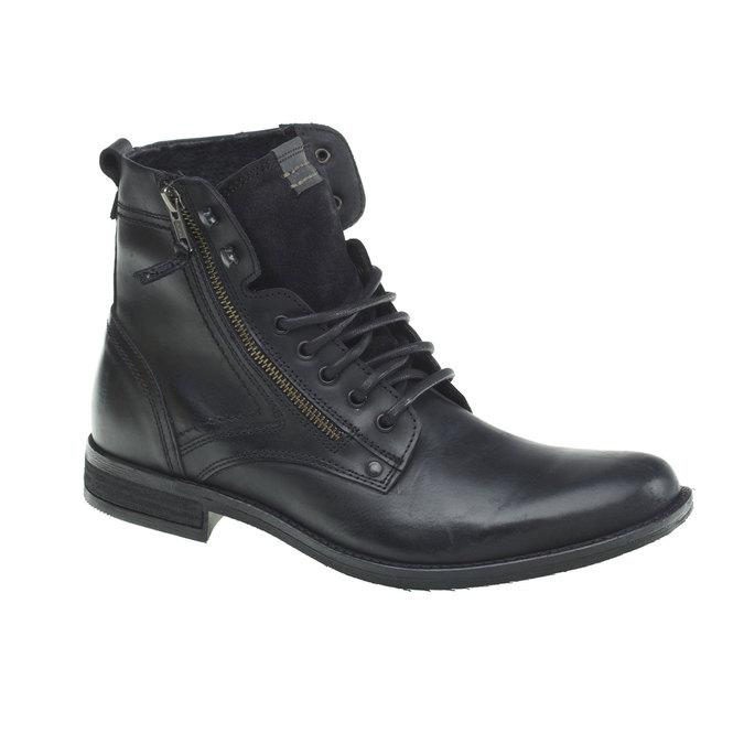 Skórzane botki bata, czarny, 894-6449 - 13