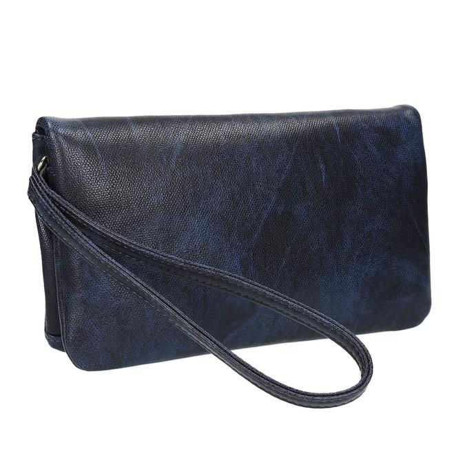 Kopertówka damska zpaskiem do zawieszenia na nadgarstku bata, niebieski, 961-9668 - 13