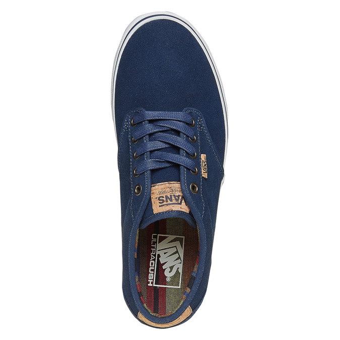 Trampki męskie ze skóry vans, niebieski, 803-9304 - 19