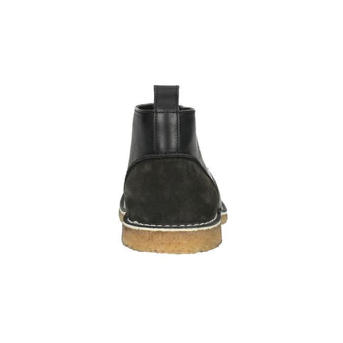 Skórzane buty typu chukka bata, czarny, 824-6665 - 17