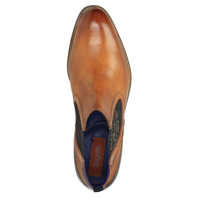Skórzane ocieplane buty za kostkę bugatti, brązowy, 814-3003 - 19
