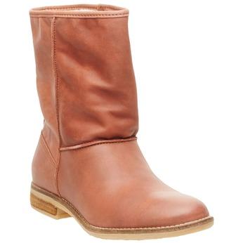 Skórzane botki bata, brązowy, 596-4105 - 13