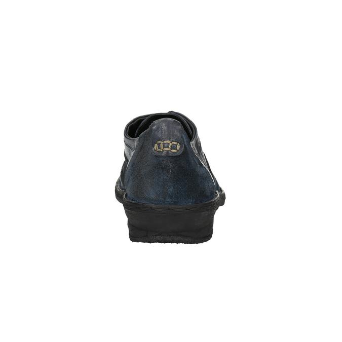 Damskie skórzane buty sportowe bata, niebieski, 526-9601 - 17