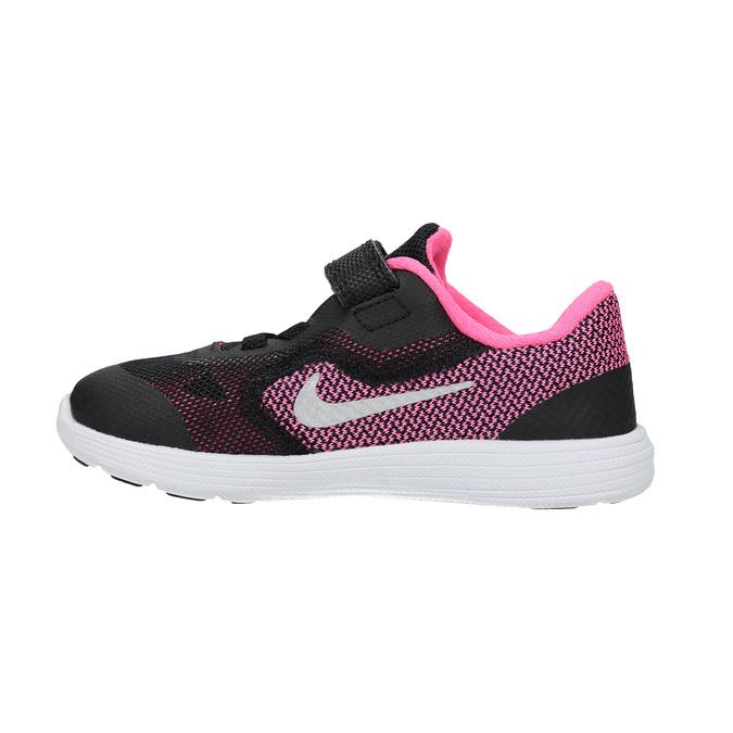 Modne dziecięce buty sportowe nike, czarny, 109-6322 - 26