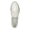 Jasne skórzane półbuty bata, biały, 526-1613 - 19