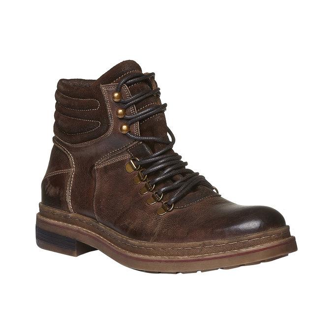 Sznurowane zimowe botki bata, brązowy, 894-4109 - 13