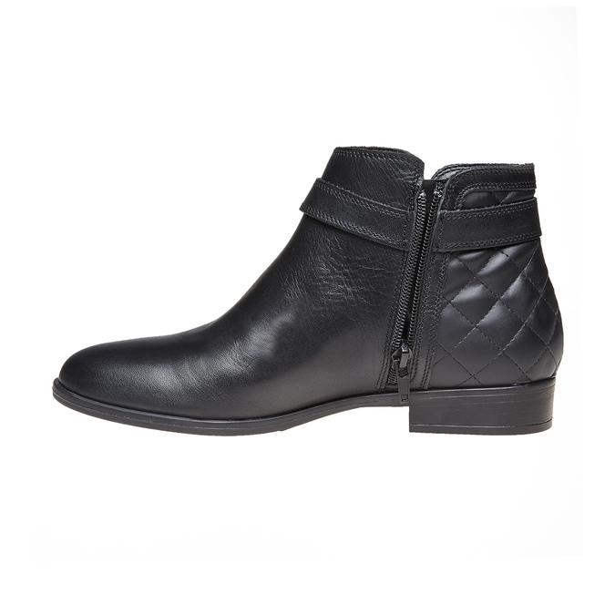 Skórzane botki bata, czarny, 594-6167 - 19