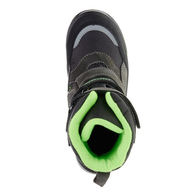 Skórzane buty zimowe mini-b, szary, 499-2110 - 19