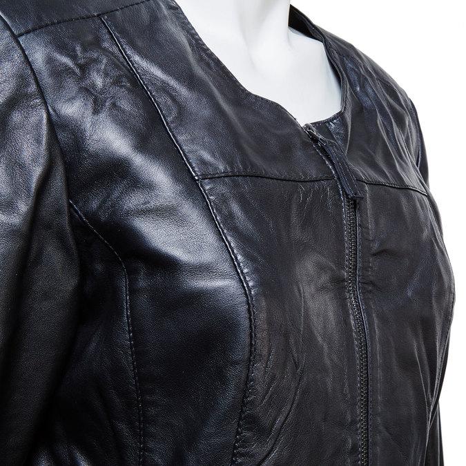 Czarna kurtka damska ze skóry bata, czarny, 974-6173 - 16
