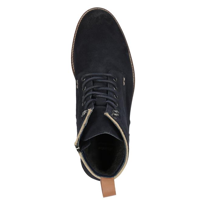 Skórzane botki bata, niebieski, 893-9651 - 19