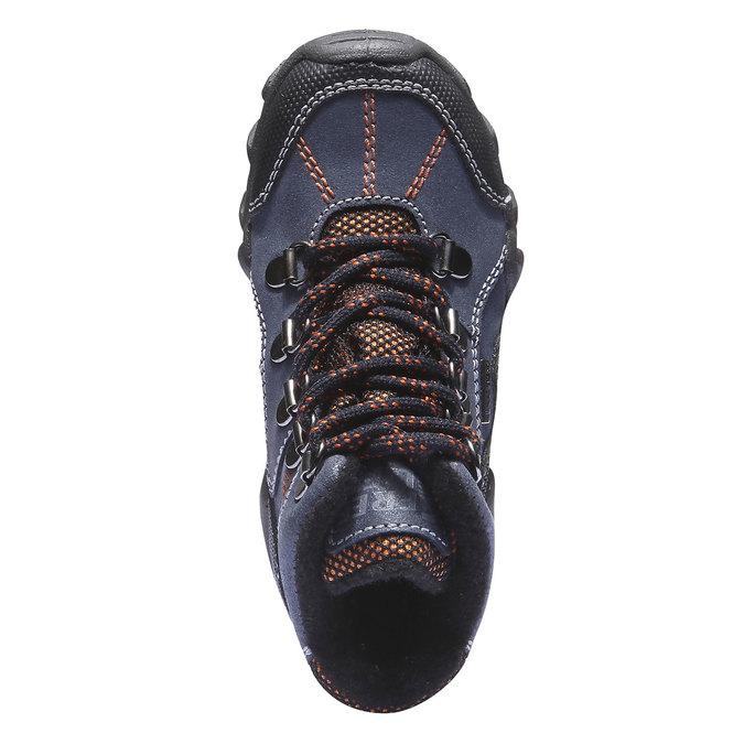 Dziecięce wysokie skórzane buty mini-b, niebieski, 416-9100 - 19