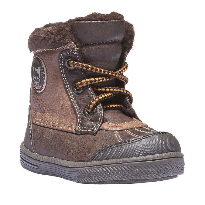 Buty dziecięce mini-b, brązowy, 191-4100 - 13