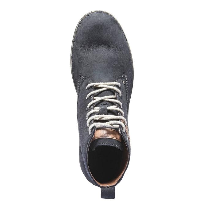 Skórzane sznurowane buty weinbrenner, fioletowy, 896-9340 - 19