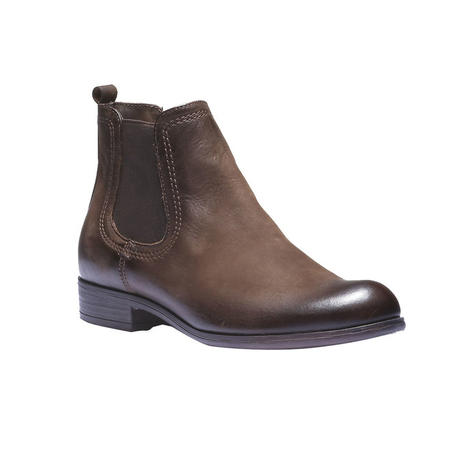 Damskie skórzane buty Chelsea bata, brązowy, 594-4110 - 13