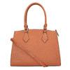 Brązowa torba damska ze sztywnymi uchwytami bata, brązowy, 961-3646 - 26