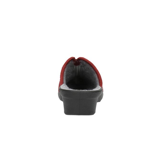 Kapcie damskie zpełnym noskiem bata, czerwony, 579-5602 - 17