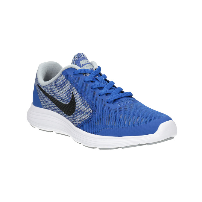 Niebieskie sportowe trampki dziecięce nike, niebieski, 409-9322 - 13