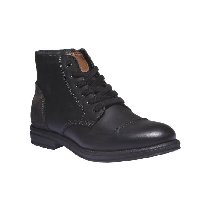 Skórzane buty na co dzień bata, czarny, 894-6555 - 13