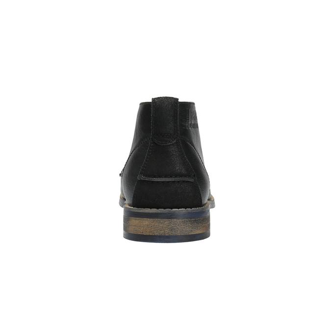Czarne buty męskie za kostkę bata, czarny, 891-6600 - 17