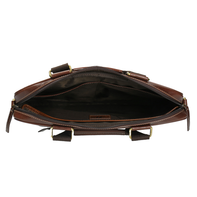 Skórzana torba męska bata, brązowy, 964-4204 - 15